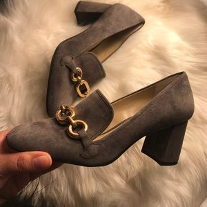Ann Taylor Suede Leather Pumps